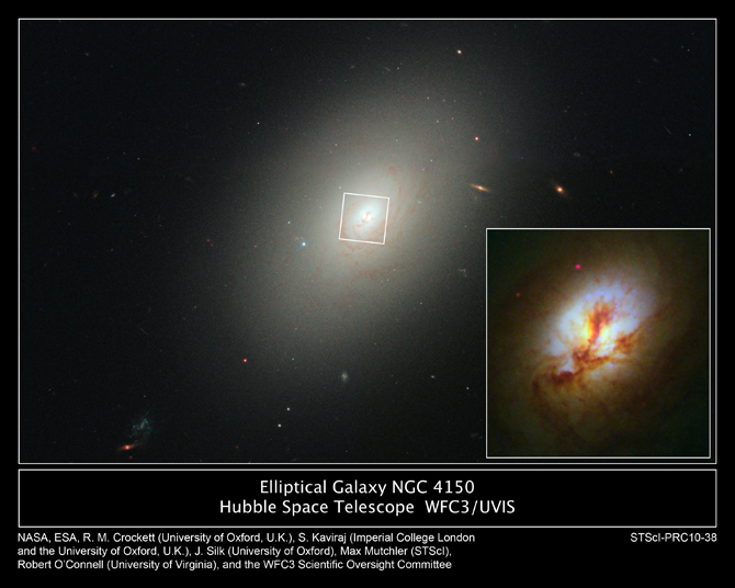 Elliptical galaxies show new star birth!