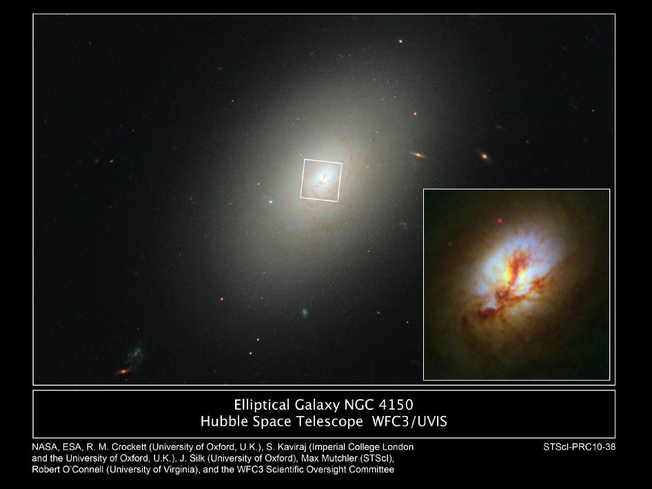 Hubble images of elliptical galaxy NGC 4150