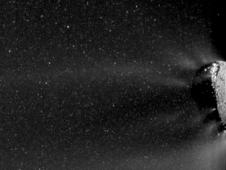 movie showing the active end of the nucleus of comet Hartley 2