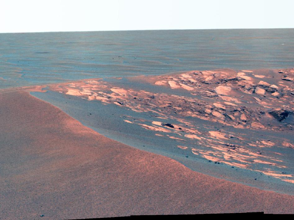 'Intrepid' Crater on Mars (False Color)