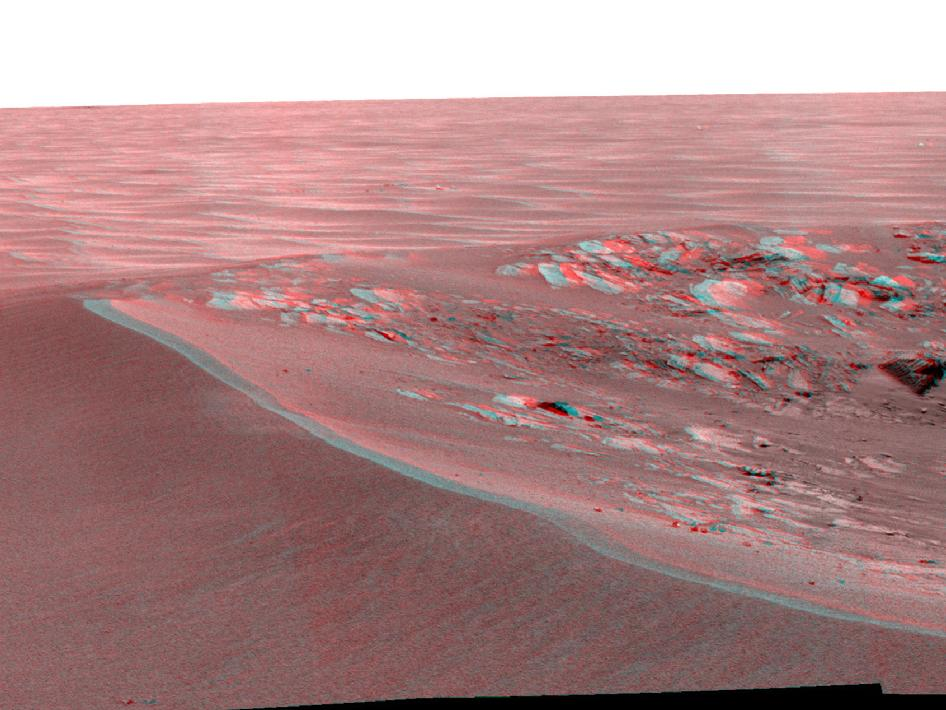 'Intrepid' Crater on Mars (Stereo)