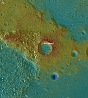 Context map of Robinson crater.