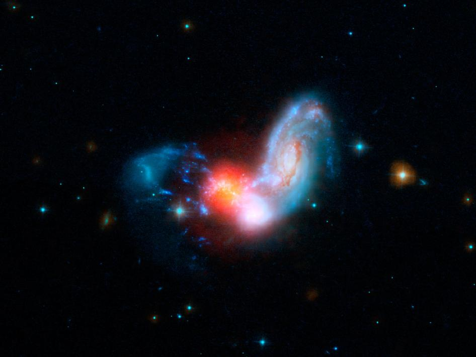 Merging galaxies, known collectively as II Zw 096