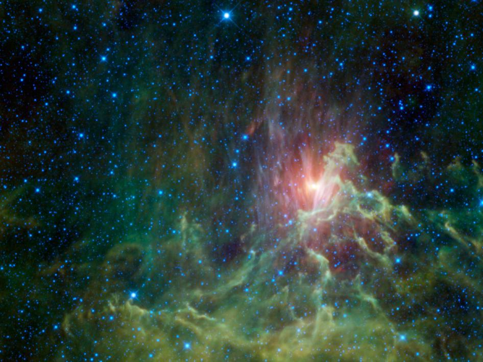 Nasa Wise Catches A Runaway Star In Flames