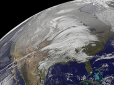GOES-13 captured a look at North America on Wednesday, November 24 as Thanksgiving travelers make their way across the U.S