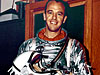 Alan Shepard wears his silver Mercury spacesuit