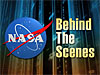 The NASA logo next to the words Behind The Scenes