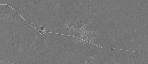 Opportunity's traverse map through sol 2427
