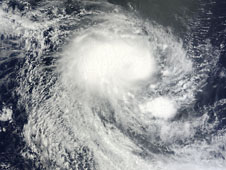 Tropical Storm Abele on Dec. 1 at 4 :45 UTC as it churns in the open waters of the Southern Indian Ocean.