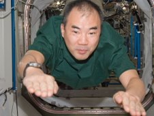Japan Aerospace Exploration Agency astronaut Soichi Noguchi, Expedition 23 flight engineer, floats into the Unity node of the International Space Station.