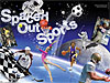 Words Spaced Out Sports and pictures of athletes with space images in background