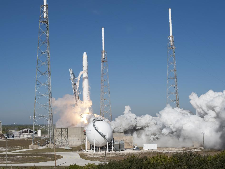 SpaceX's Falcon 9 rocket and Dragon spacecraft lift off from Launch Complex-40