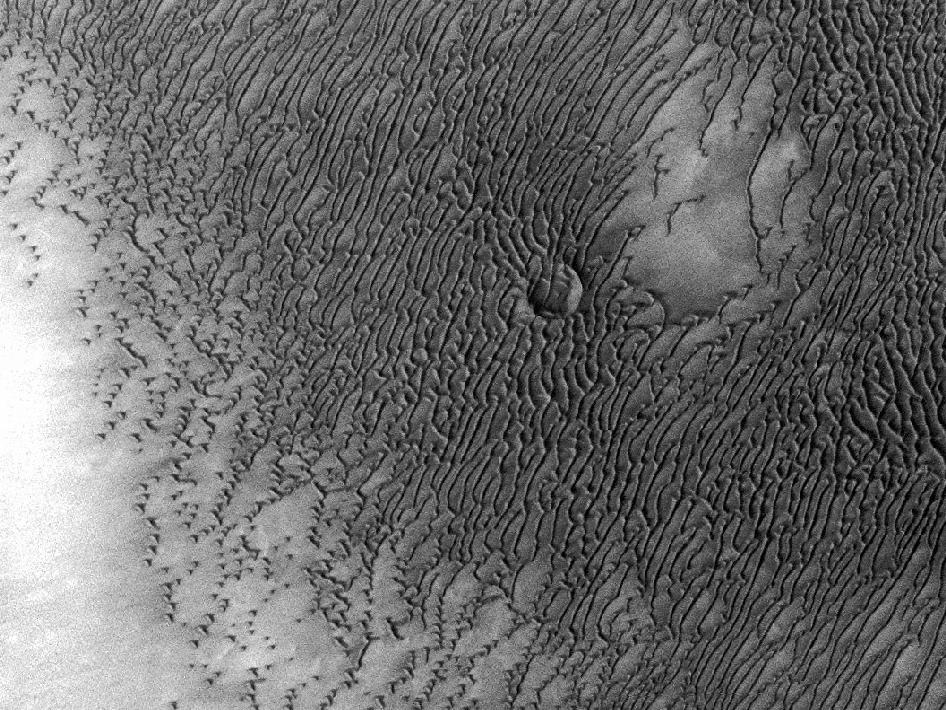 A vast dune field on Mars