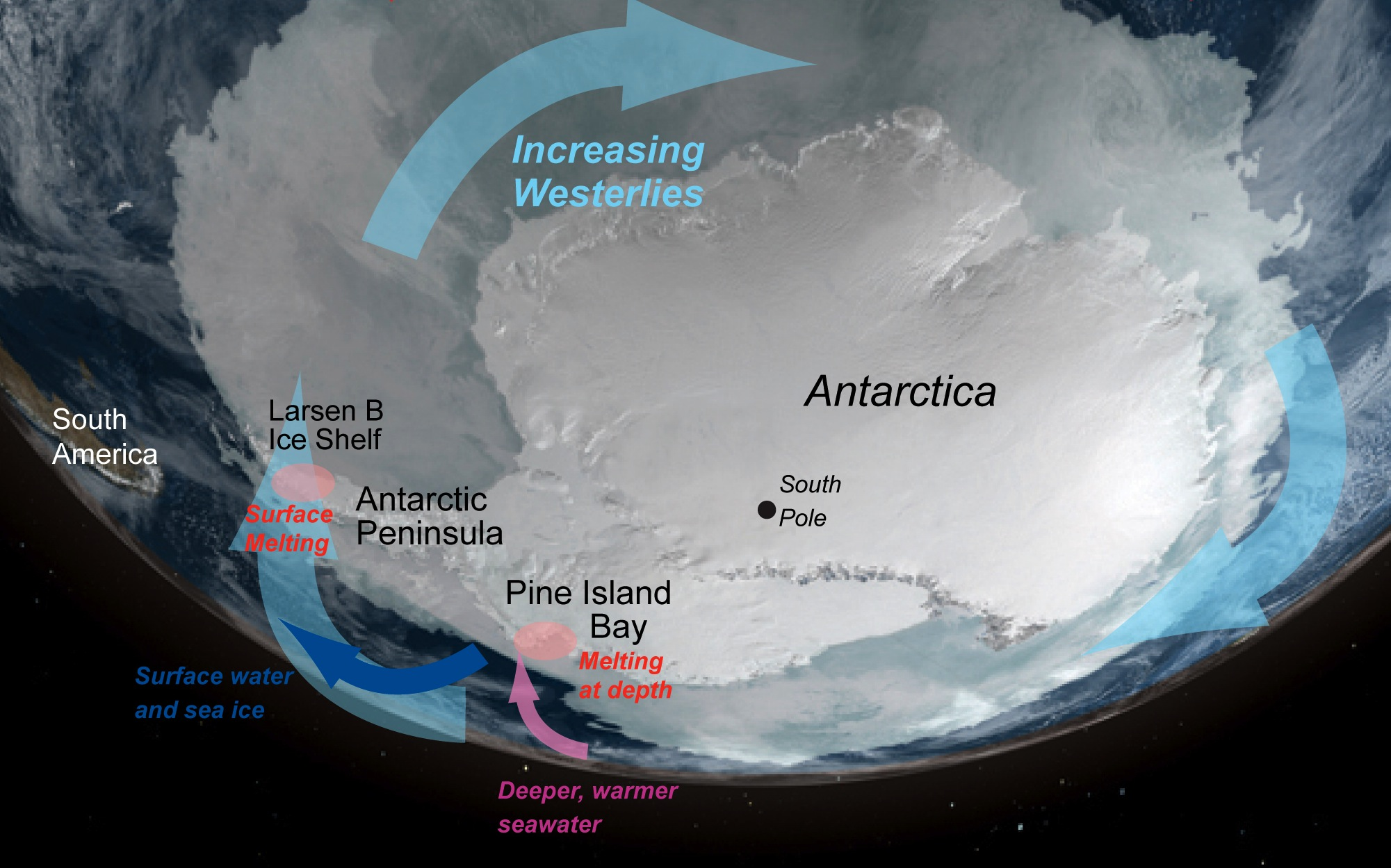NASA Unstable Antarctica Whats Driving Ice Loss - Satellite map of antarctica