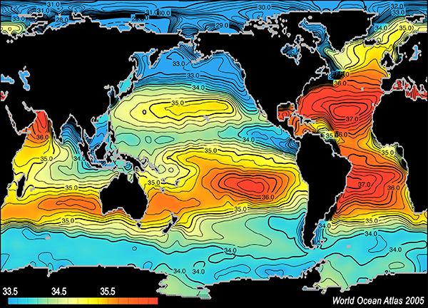 Mean salinity map