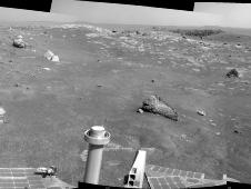 Opportunity's view of Santa Maria crater