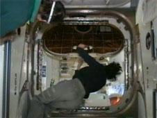 Commander Suni Williams opens Dragon hatch