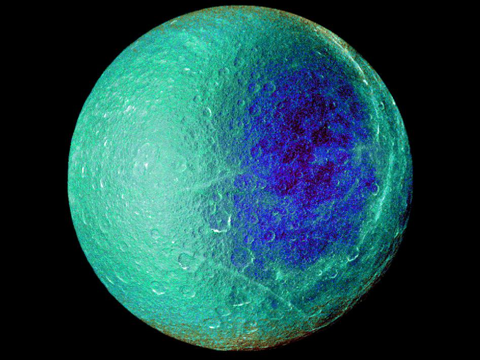 Hemispheric color differences on Saturn's moon Rhea