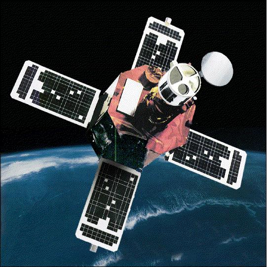 Artist's rendition of the TRACE spacecraft in orbit.