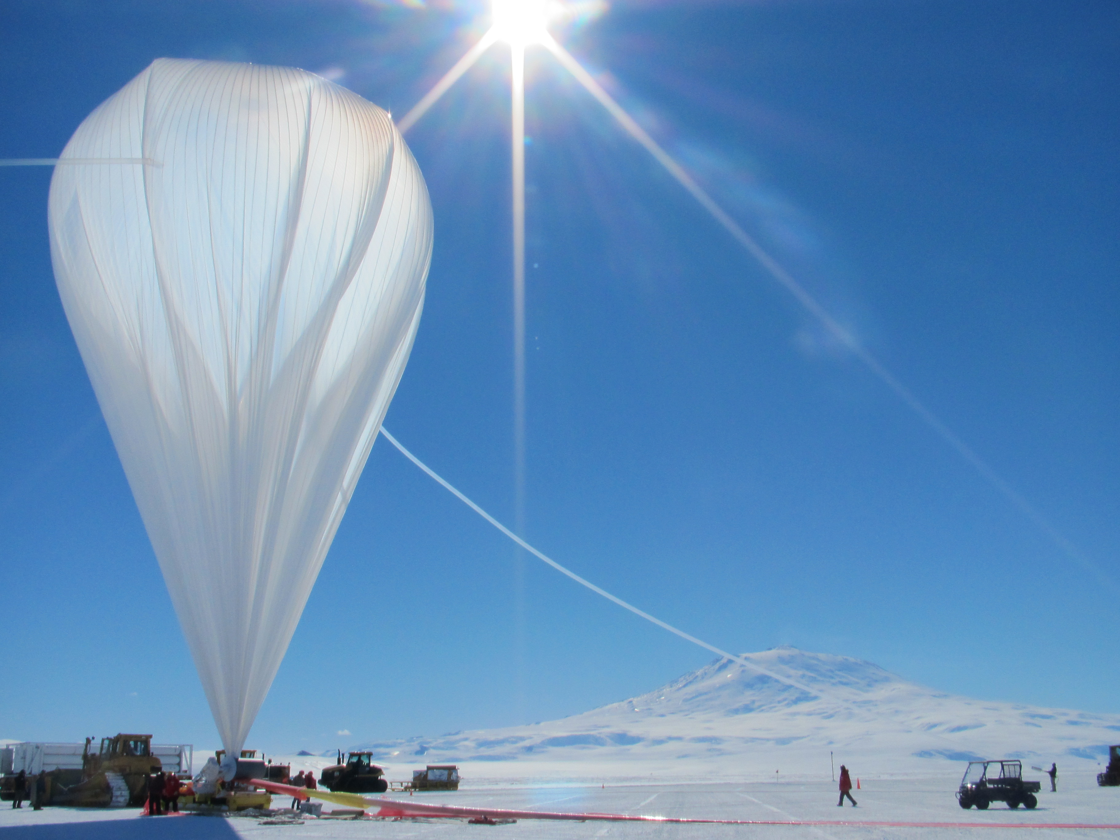 The CREAM balloon launches from Antarctica.