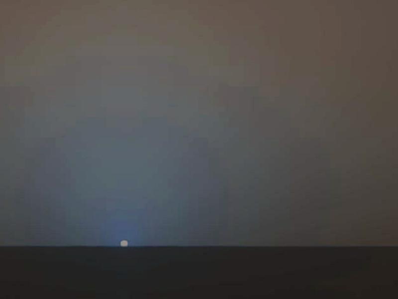 Oportunity - modri Sončev zahod