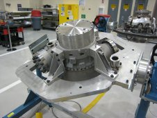 The turbomachinery assemblies for the first development J2X engine off the production line.