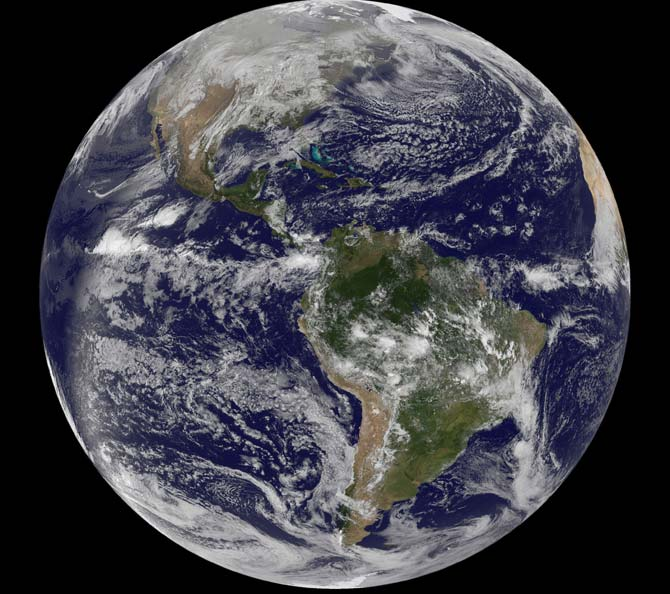 NASA - As the World Turns to 2011 GOES Satellites Watch ...