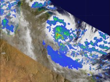 TRMM captured this image of Tasha at 15:32 UTC (5:32 am AEST) on the 24th of December 2010 just before it became a Category 1 cyclone.