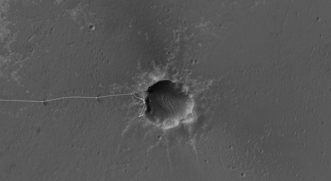 Opportunity's traverse map through sol 2464