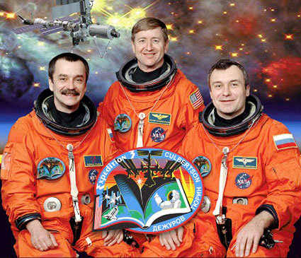 iss003s002 -- Expedition 3 crew portrait