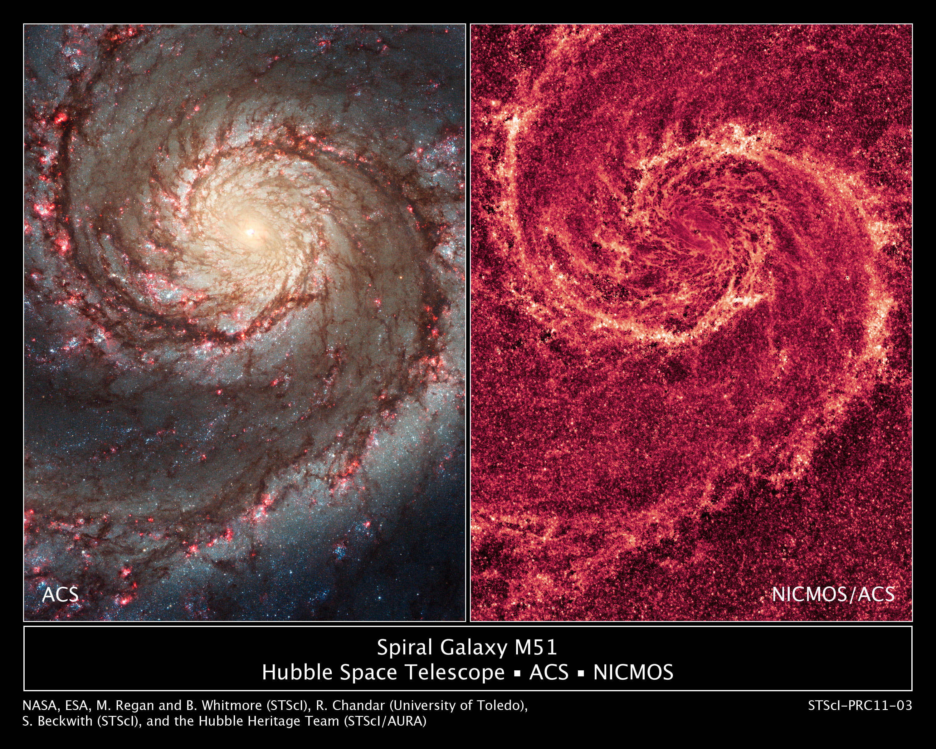 NASA - The Two-faced Whirlpool Galaxy