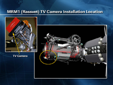 MRM1 (Rassvet) TV camera installation location
