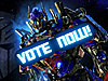 Optimus Prime with Vote Now