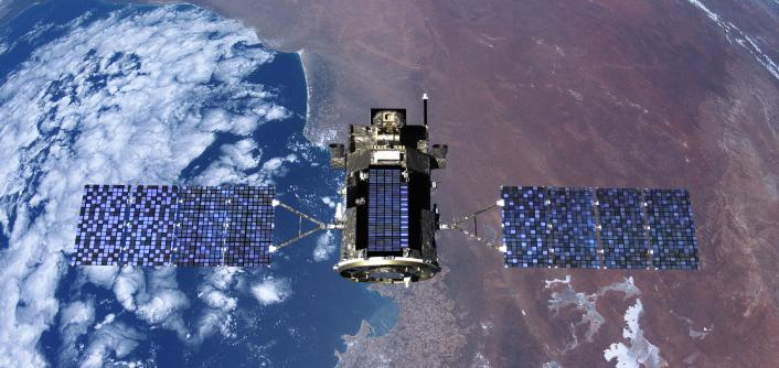 Nasa Top Down View Of Glory Spacecraft And Solar Panels