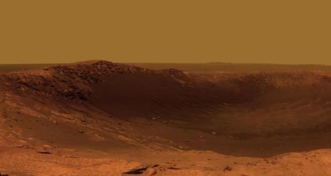 Color Panorama of 'Santa Maria' Crater