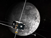An artist's concept of the two ARTEMIS spacecraft in orbit around the Moon.