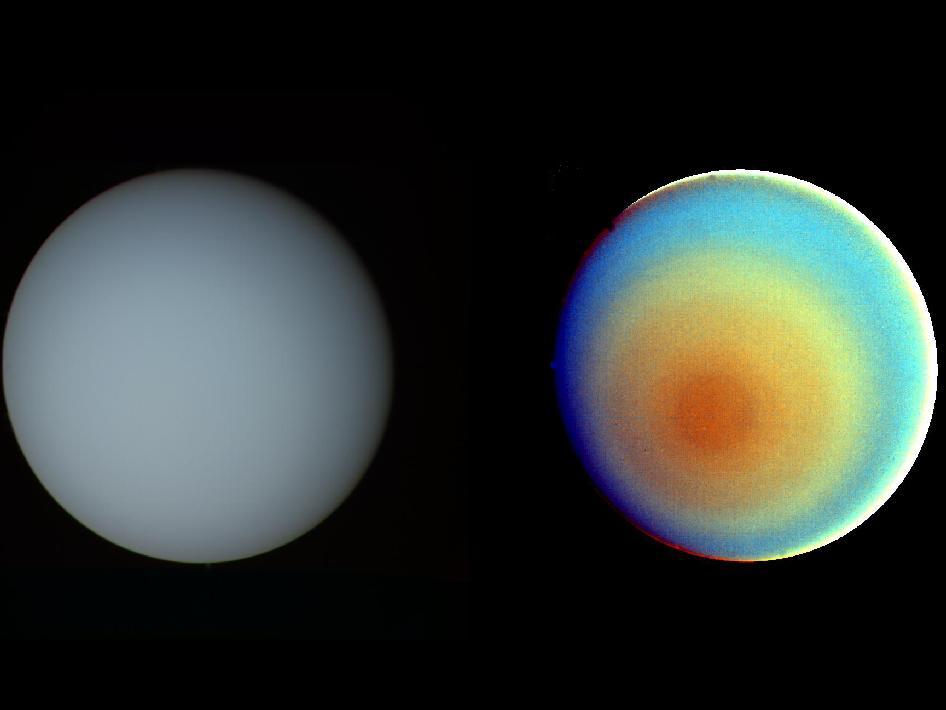 Uranus in True and False Color | NASA