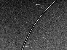 Uranus rings and two moons