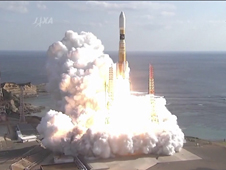 The Kounotori2 H-II Transfer Vehicle launches aboard an H-IIB rocket