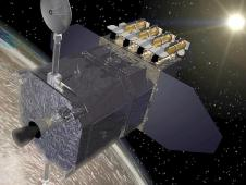Artist rendition of SDO spacecraft.
