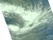 This AIRS image shows a well-organized storm with a visible eye.