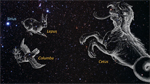thumbnail from zoom-in video showing constellation depictions