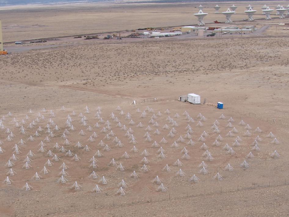 Aerial View of the Antennas of the Long Wavelength Array station in New Mexico