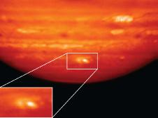 Heat Map of Jupiter Impact