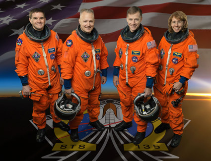 STS135-S-002: STS-135 crew portrait