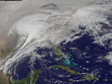 GOES image of Feb 2011 snowstorm