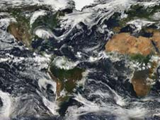 This composite image, compiled from MODIS data from instruments on the Terra and Aqua satellites, represents just a fraction of the Earth observations that EOSDIS manages on a daily basis.