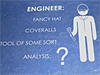A blueprint of an engineer