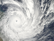 view of Tropical Cyclone Yasi