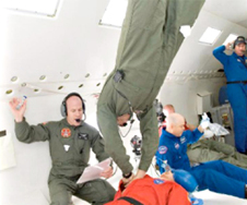 Treating medical problems in microgravity